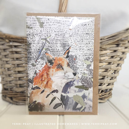 'Gazing Fox' Card