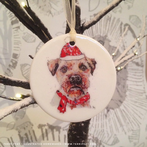 'Winter Border Terrier' Decoration