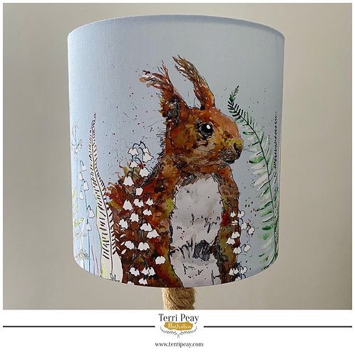'Woodland Red Squirrel' Lampshade