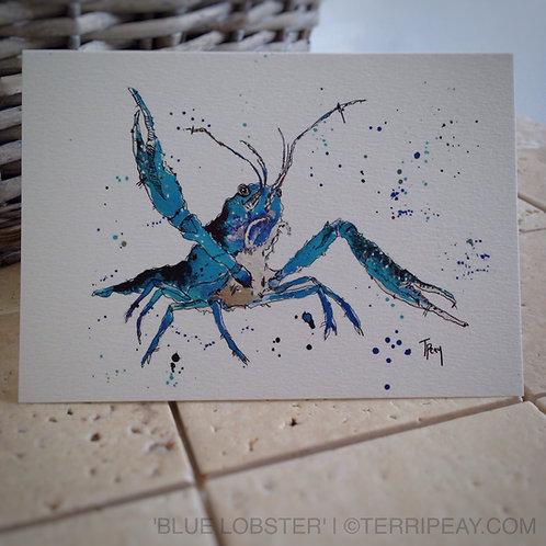 'Lobster-Blue' Card