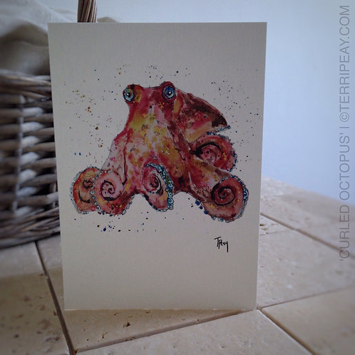 'Curled Octopus' Card