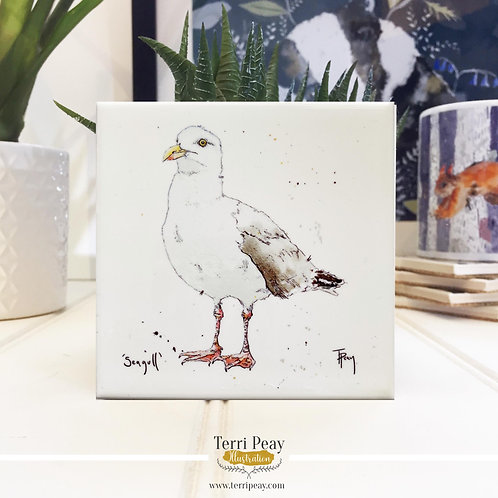 'Nautical Seagull' Hand Crafted Coaster