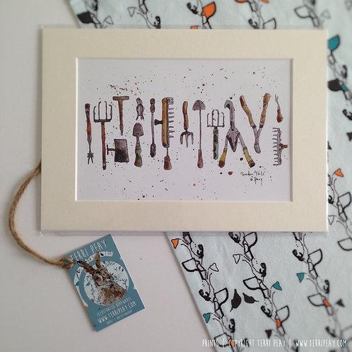 'Gardeners Tools' Print