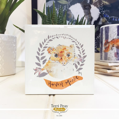 'Harvest Mouse' Coaster
