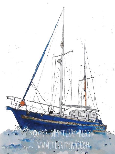 'Sorebones 3 Boat' by Terri Peay