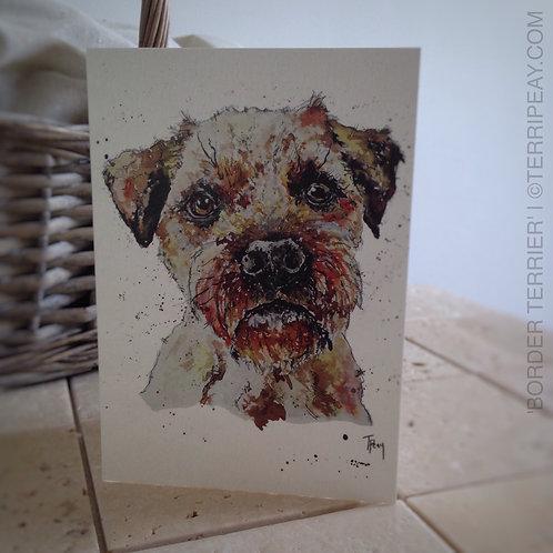 'Border Terrier' Card