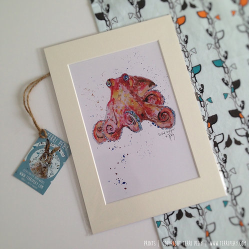 'Curled Octopus' Print