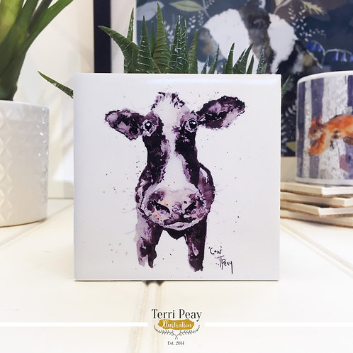 Hand Crafted 'Cow' Coaster