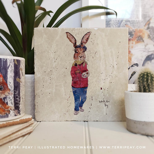 Handcrafted 'Hadleah, Hare' Placemat