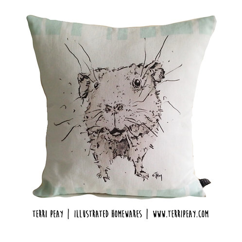 'Poppy, Guinea-Pig' Cushion