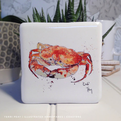 Hand Crafted 'Crab' Coaster