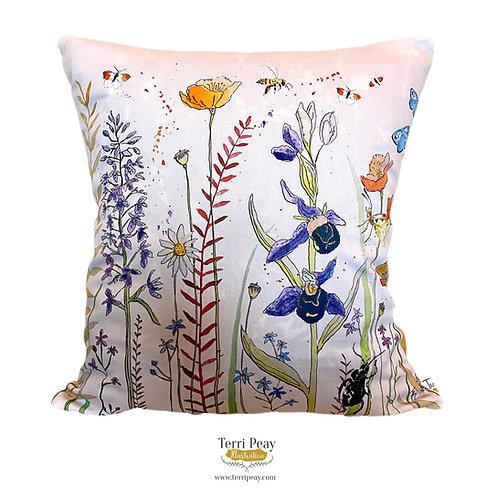 'Dan's Wild Flowers' Cushion