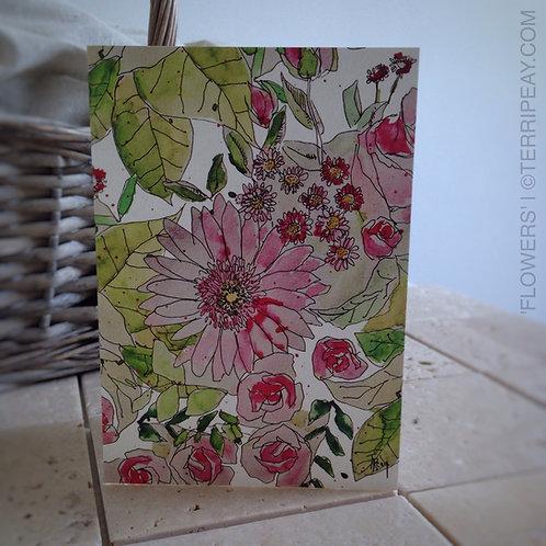 'Flower Bouquet' Card
