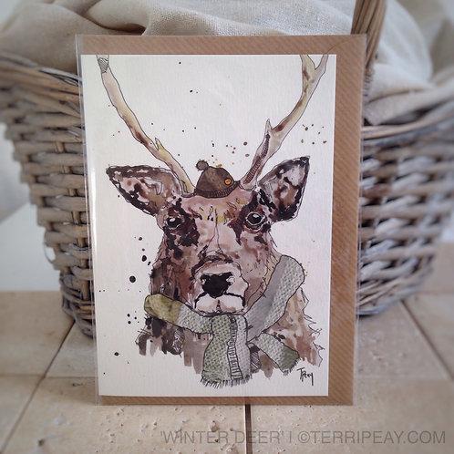 'Winter Deer' Card