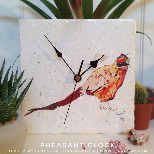 'Pheasant' Clock