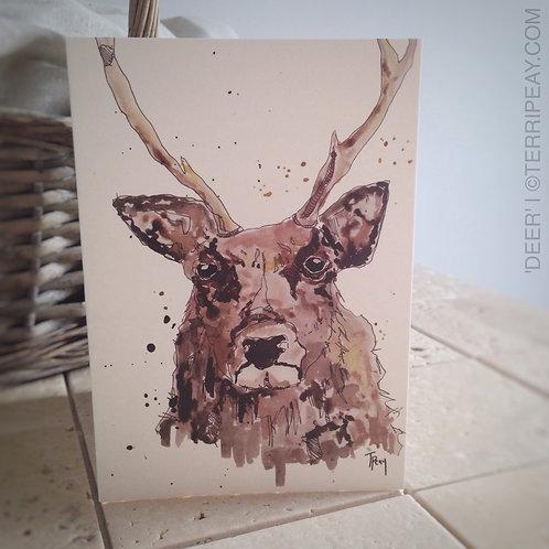 'Deer' Card