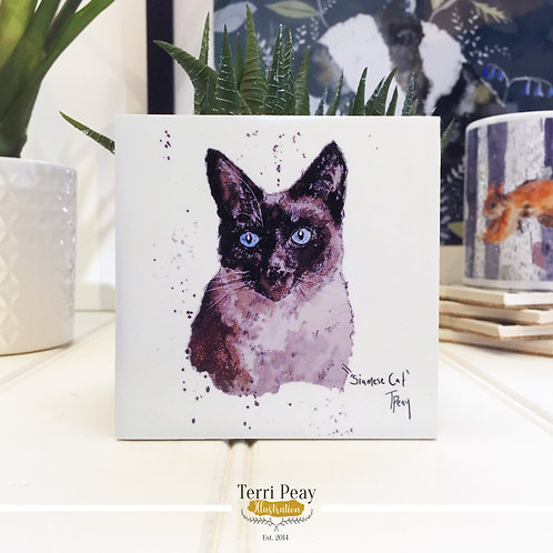 Hand Crafted 'Siamese Cat' Coaster