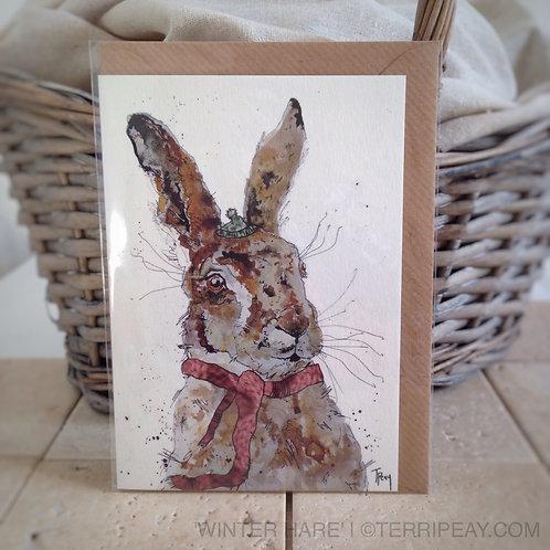 'Winter Hare' Card
