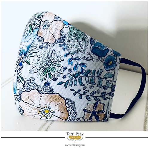 Floral Poppies Face Mask