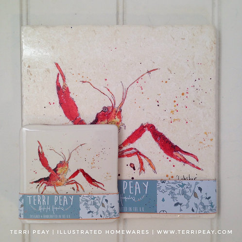 Placemat & Coaster Gift Set- 'Lobster'
