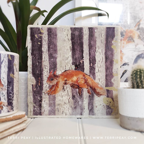 Handcrafted 'Leaping Squirrel' Placemat