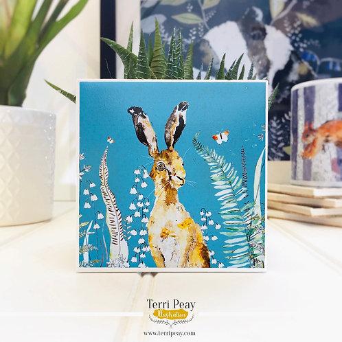 'Woodland Hare' Coaster