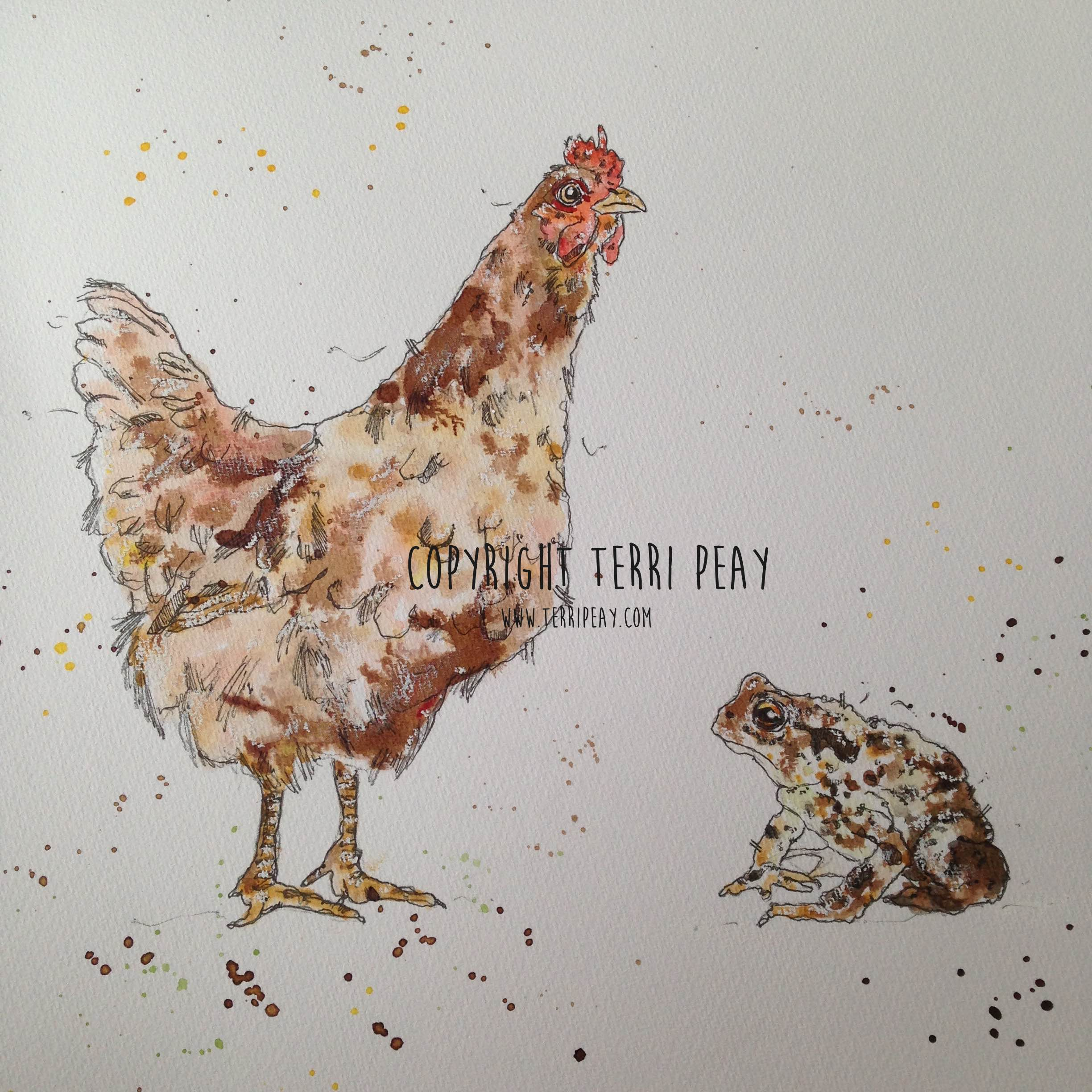 'Hen & Toad' By Terri Peay
