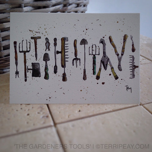 'The Gardeners Tools' Card
