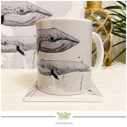 'Blue Whale' Mug
