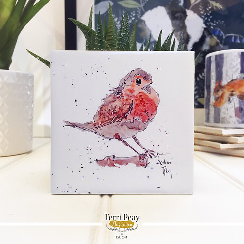 Hand Crafted 'Robin' Coaster