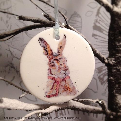 'Winter Hare' Decoration