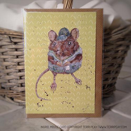 'Ingrid, Mouse' Card