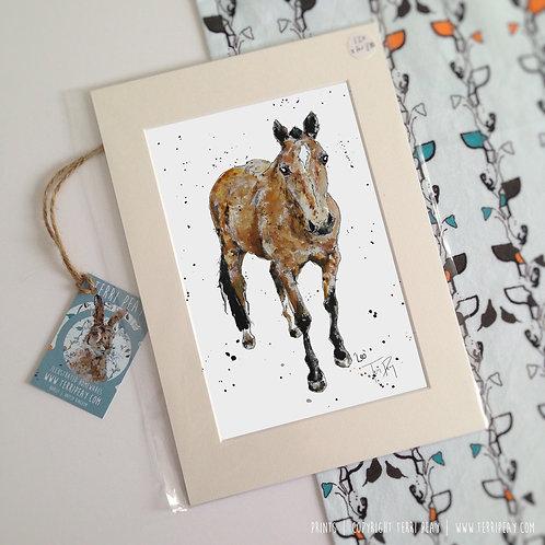 'Leo, Horse' Print