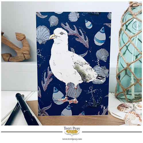 'Seaside Seagull' Card