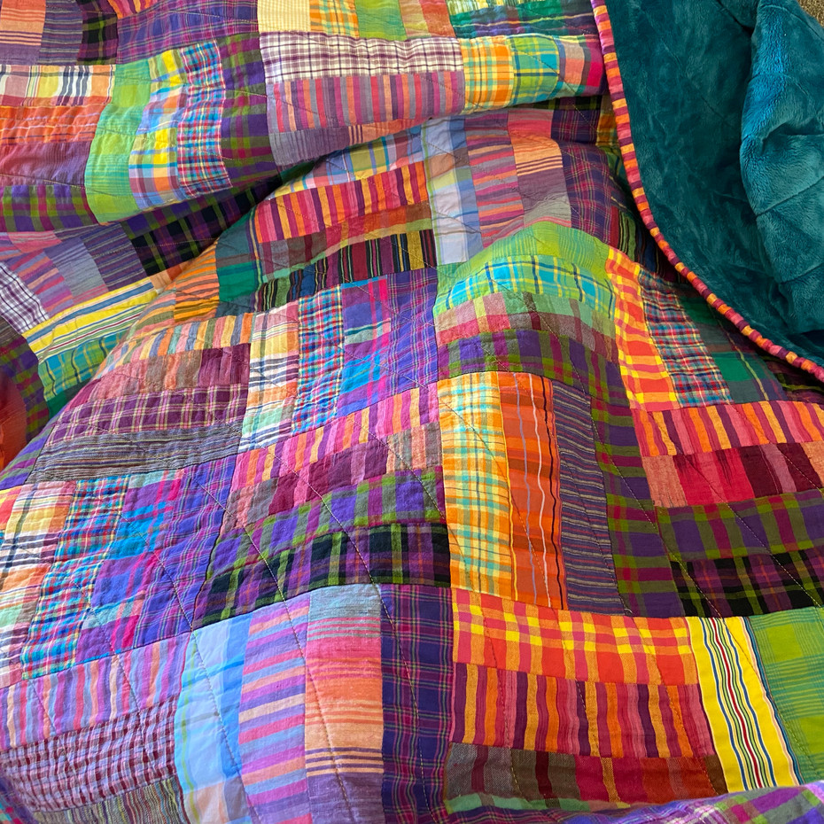 My New Favorite Quilt Is the One I Just Finished: A Tale of Plaids, Stripes, and Minky