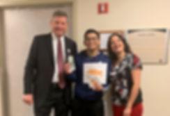 Alex Carballo recieving ASPIRE Award