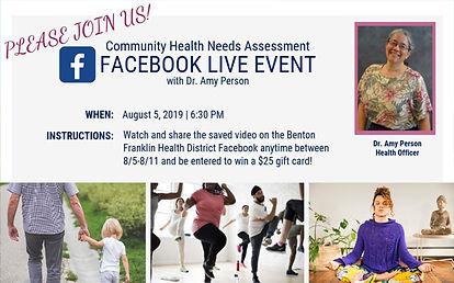 CHNA Facebook Live Event