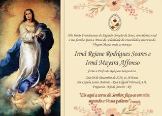 Convite para a Profissão Religiosa