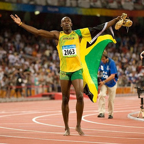 Usain Bolt at the 2008 Summer Olympics in Beijing