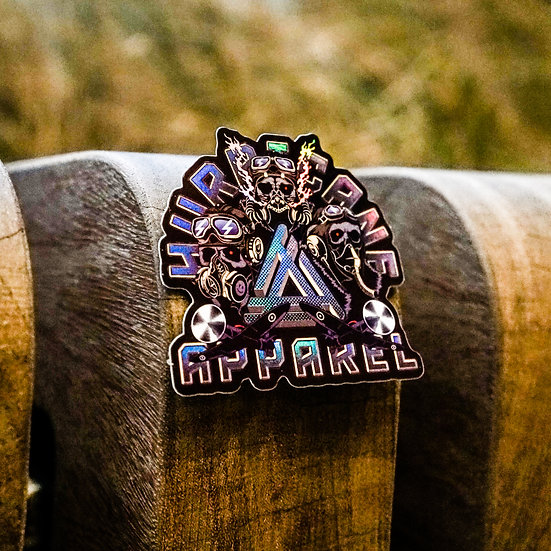 Hurricane Apparel 'Immortal Flight' Holographic Sticker