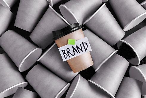 Coffee identity brand building concept w