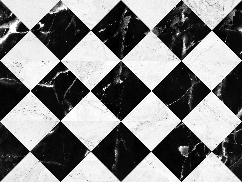 Black and white marble bricks wall backg