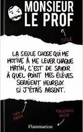 L'avis des libraires – 2nde chronique : Monsieur le Prof