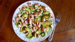 Salade thon/kiwi/avocat