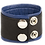 Thumbnail: Bracelet de Force en Cuir 5cm Noir-Bleu