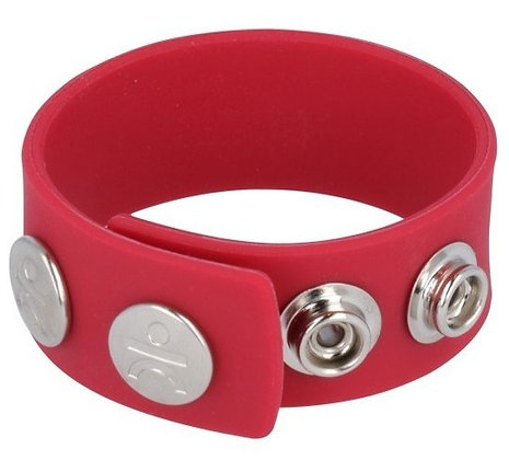 Cockring Wide Strap rouge