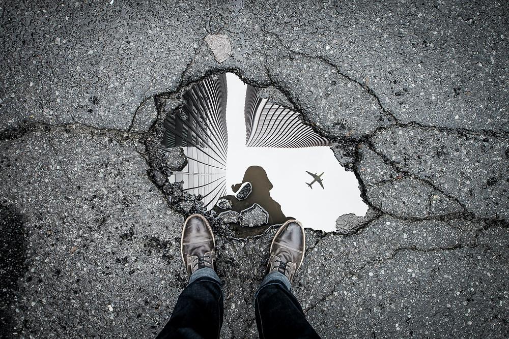 road traffic control pothole repair