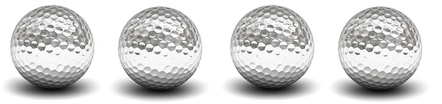 4 long silver-golf-ball-isolated-over-wh