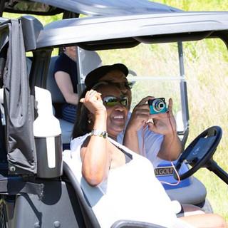 Blondie & Richard capturing fun on the course