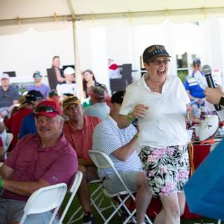 Volunteer and Coastie mom Jane, wins the fit bit!